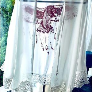 White Kimono Cover